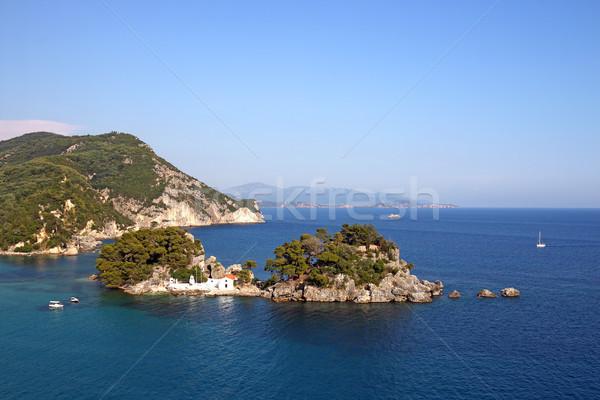 Eiland zeegezicht water zee zomer Blauw Stockfoto © goce