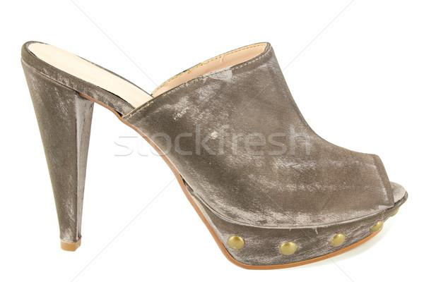 Donna moderno open toe scarpa moda Foto d'archivio © goce
