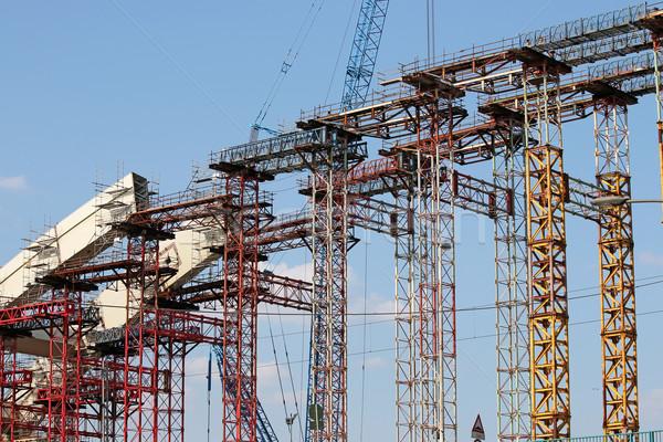 строительная площадка новых моста дуга здании кадр Сток-фото © goce
