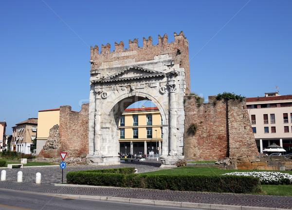 famous Arco di Augusto Rimini Italy Stock photo © goce