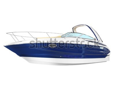 new yacht isolated on white Stock photo © goce