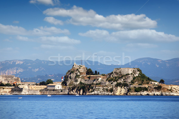 Stock photo: old fortress Corfu town landscape
