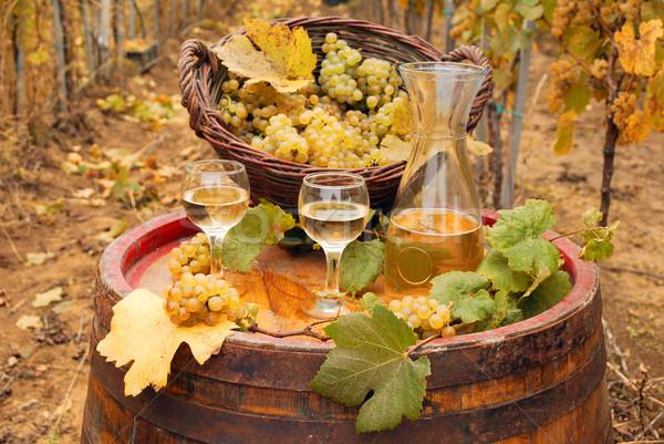 Raisins vin blanc saison d'automne alimentaire nature fruits Photo stock © goce