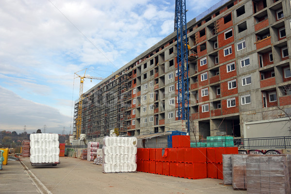 new building construction site Belgrade Serbia Stock photo © goce