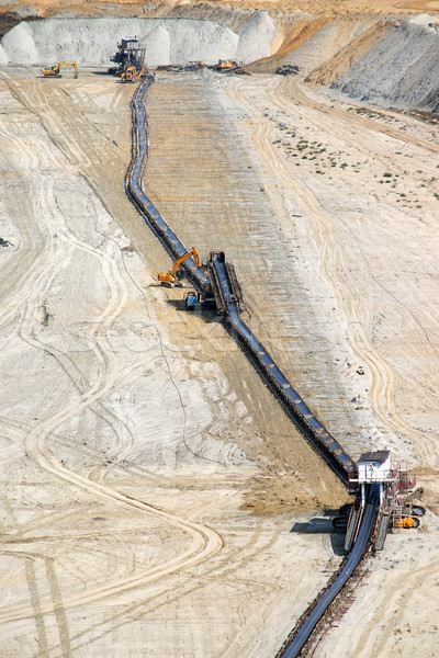 Open pit coal mine with heavy machinery  Stock photo © goce