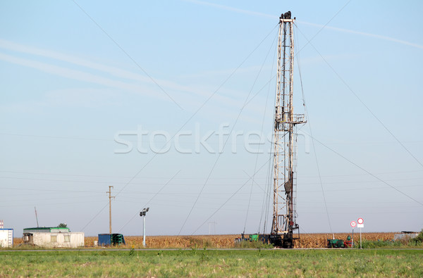land oil drilling rig on oilfield Stock photo © goce