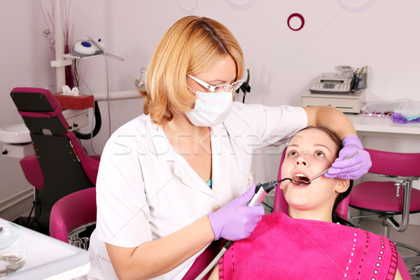female dentist and girl patient Stock photo © goce
