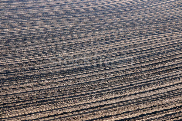 plowed field background agriculture industry Stock photo © goce