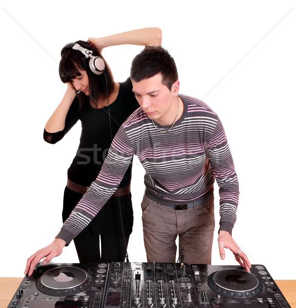 Mädchen Musik Schönheit Spaß jungen Sound Stock foto © goce