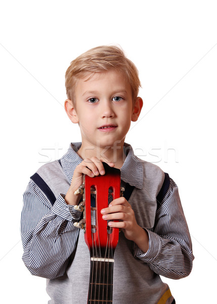 boy with guitar portrait Stock photo © goce