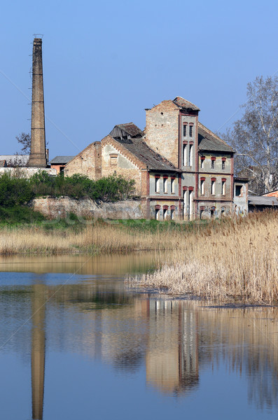 old ruined factory on lake Stock photo © goce