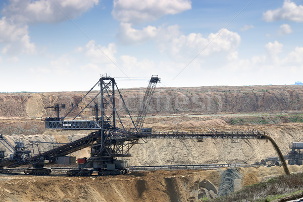 open pit coal mine with giant excavator  Stock photo © goce