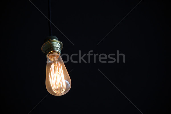 light bulb shines in the dark  Stock photo © goce