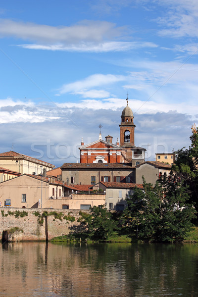 old church and buildings Rimini Italy Stock photo © goce