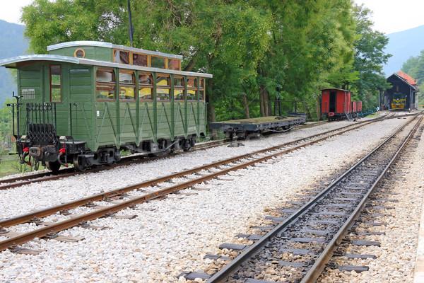 железнодорожная станция старые поезд путешествия ретро Vintage Сток-фото © goce