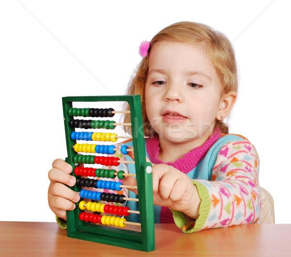 little girl count Stock photo © goce