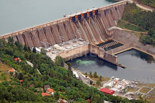 hydroelectric power plant Perucac on Drina river  Stock photo © goce