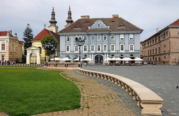 Union carré vieux bâtiments Roumanie bâtiment Photo stock © goce