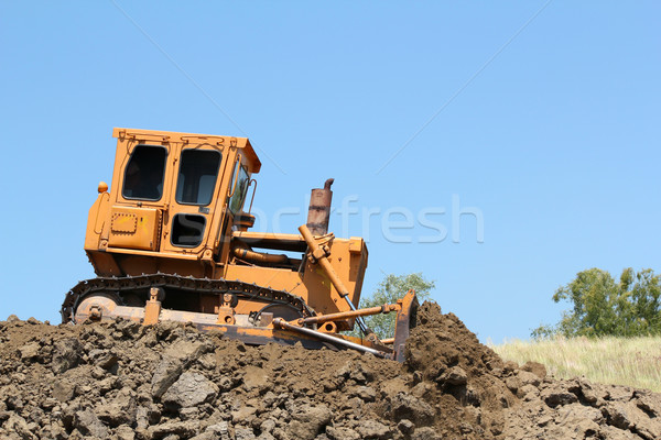 bulldozer on road construction Stock photo © goce