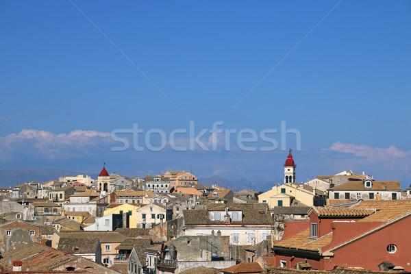 町 ギリシャ 夏 シーズン 市 教会 ストックフォト © goce