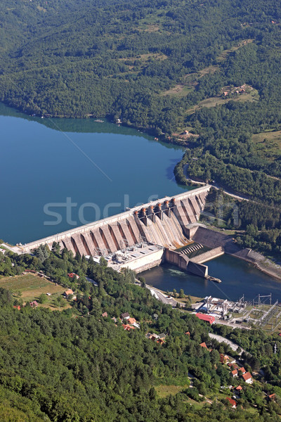 hydroelectric power plant on Drina river landscape Stock photo © goce