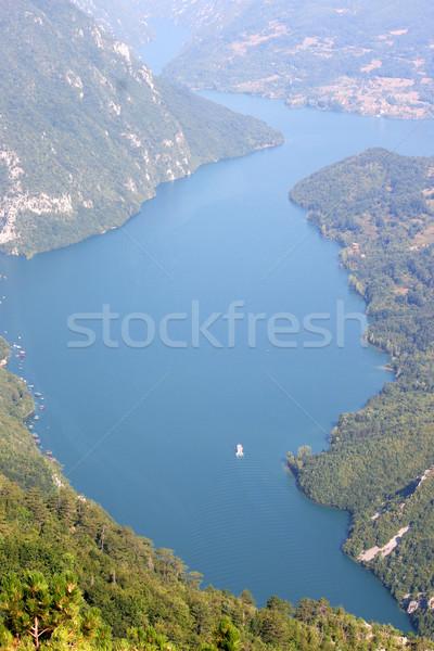 Folyó kanyon hegy Szerbia erdő tájkép Stock fotó © goce