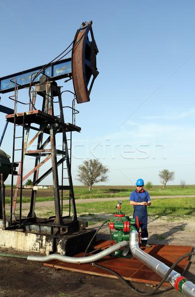 Verificare conduttura industria lavoratore Foto d'archivio © goce