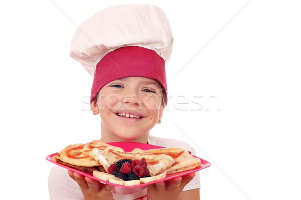 Zdjęcia stock: Szczęśliwy · dziewczynka · gotować · portret · uśmiech · dziecko