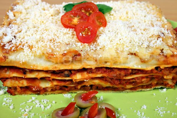 Gustoso lasagne piatto alimentare formaggio Foto d'archivio © goce