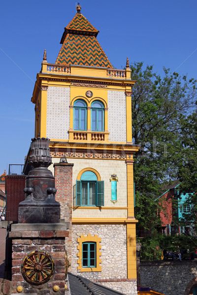 old colorful building with Zsolnay ceramic Pecs Hungary Stock photo © goce