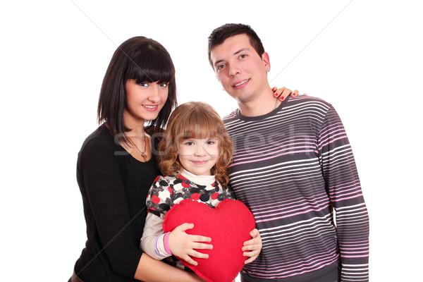 Családi portré nő család szeretet boldog gyermek Stock fotó © goce