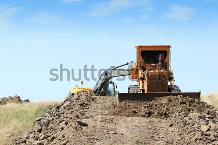bulldozer working on road construction Stock photo © goce