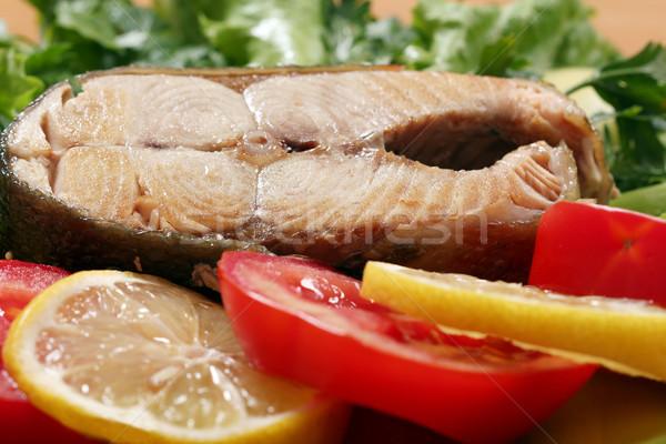 Salmone frutti di mare insalata pesce arancione Foto d'archivio © goce