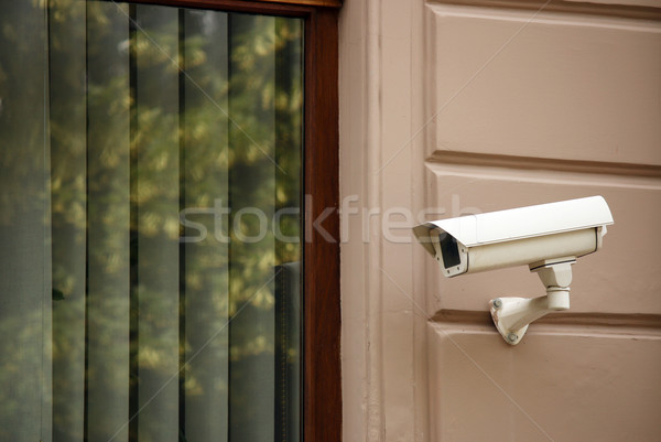 security camera on wall watching Stock photo © goce