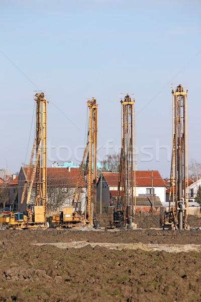 четыре гидравлический бурение строительная площадка промышленности Сток-фото © goce