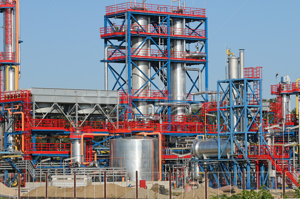 petrochemical plant and pipeline oil industry Stock photo © goce