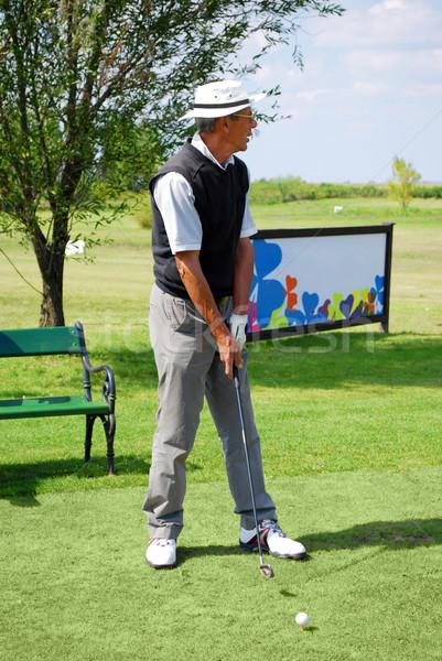 Jogador de golfe céu golfe verde jogar jogo Foto stock © goce