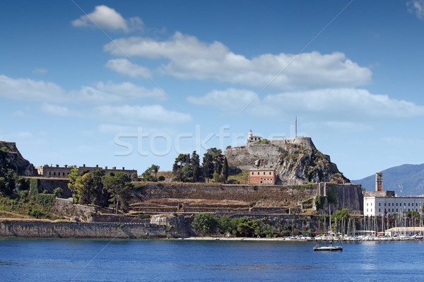 old fortress and marine Corfu town Greece Stock photo © goce