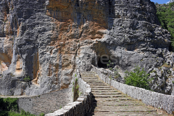 Kő híd részlet Görögország természet tájkép Stock fotó © goce