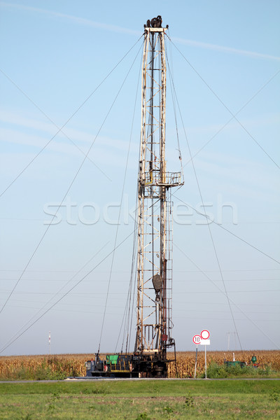 land oil drilling rig heavy industry Stock photo © goce