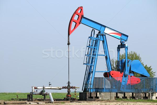 oilfield with oil pump jack Stock photo © goce