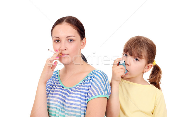 cigarette smoking in adults can cause disease in children  Stock photo © goce
