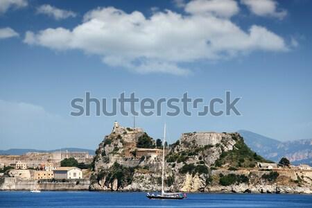 Vela vela vecchio fortezza città Grecia Foto d'archivio © goce