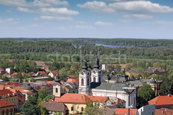 Iki kiliseler Sırbistan Cityscape şehir kilise Stok fotoğraf © goce