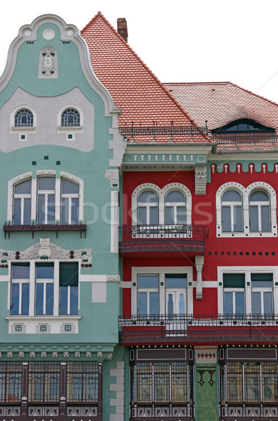 Colorido Rumania pared arquitectura Europa Foto stock © goce