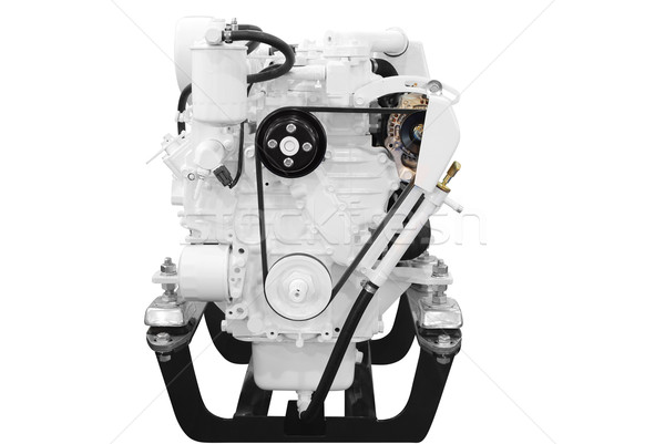 ship engine front view isolated on white Stock photo © goce