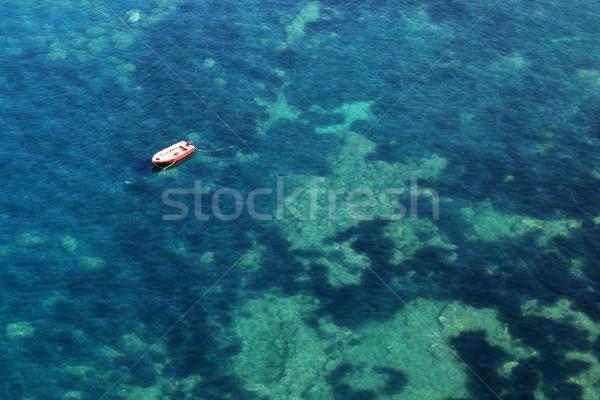 Csónak tenger nyár évszak természet kék Stock fotó © goce