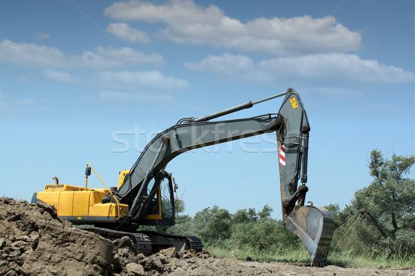 Ekskavatör çalışma yol yapımı yol inşaat güç Stok fotoğraf © goce