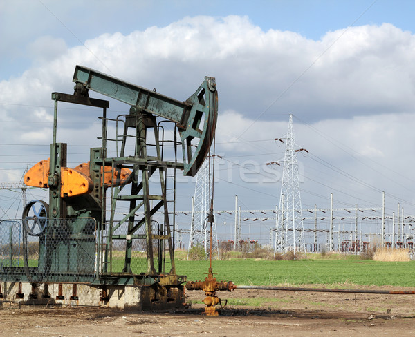oil field with pumpjack Stock photo © goce