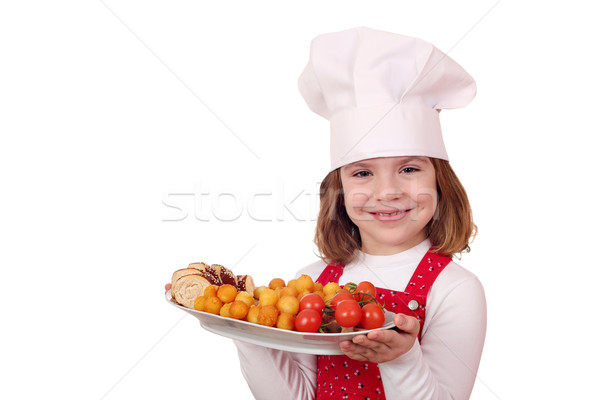 little girl cook with gourmet food Stock photo © goce